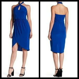 Laundry by Shelli Segal Halter Matte Jersey Dress